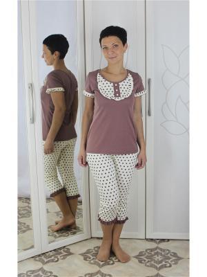 Пижама Агапэ. Цвет: коричневый, белый