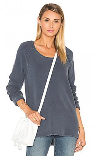 Пуловер из футера Stateside. Цвет: синий