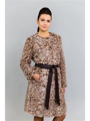 Пальто Socrat. Цвет: коричневый, светло-коричневый