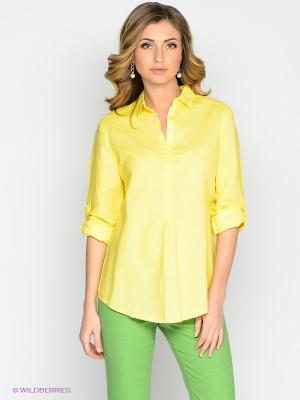 Блузка Vis-a-vis. Цвет: желтый