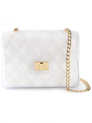 Стеганая сумка через плечо Taormina Designinverso. Цвет: белый