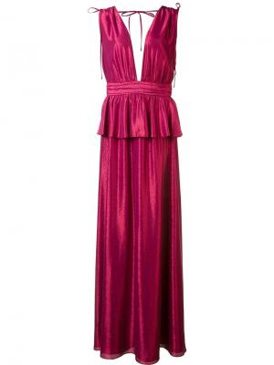 Вечернее платье Azalea Zac Posen. Цвет: розовый и фиолетовый