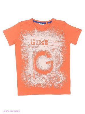 Футболка GUESS. Цвет: оранжевый