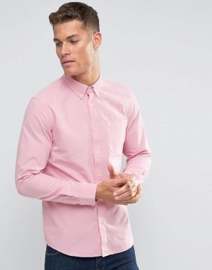 Jack Wills Розовая оксфордская рубашка классического кроя. Цвет: розовый