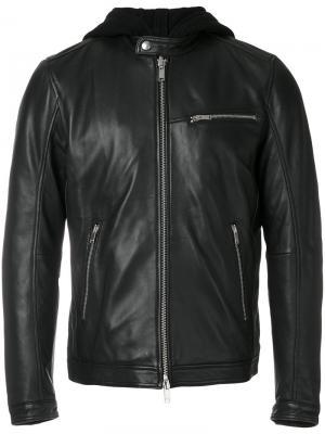 Куртка с капюшоном Dondup. Цвет: чёрный