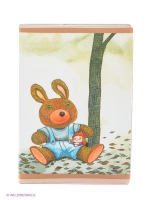 Обложка для автодокументов Мишка и малышка Mitya Veselkov. Цвет: светло-зеленый