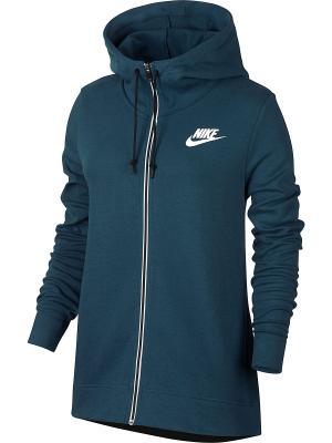 Толстовка W NSW AV15 HOODIE FZ Nike. Цвет: синий