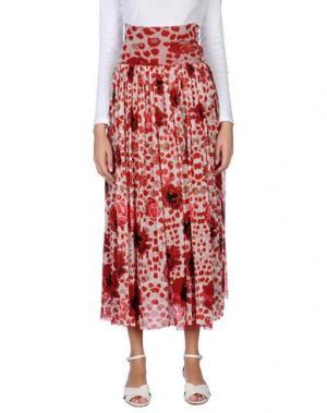 Длинная юбка FUZZI. Цвет: кирпично-красный