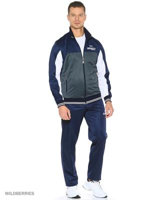Спортивный костюм ADDIC. Цвет: серый, синий