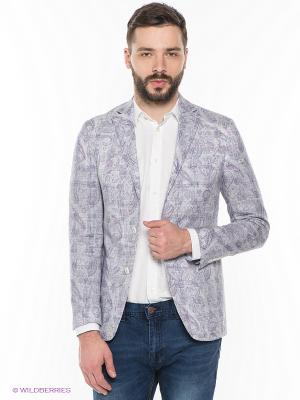 Пиджак MONDIGO. Цвет: фиолетовый, белый, синий