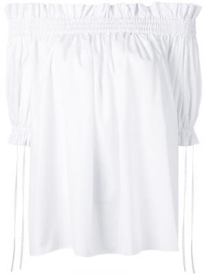 Блузка с открытыми плечами Alexander McQueen. Цвет: белый