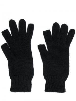 Ребристые перчатки Rick Owens. Цвет: чёрный