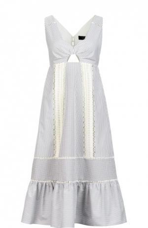 Платье Thakoon. Цвет: серый