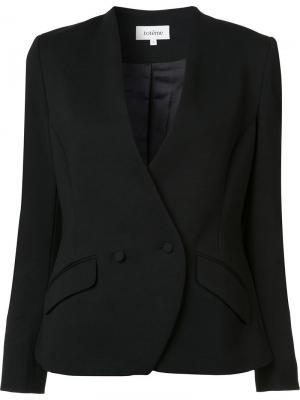 Двубортный пиджак Toteme. Цвет: чёрный