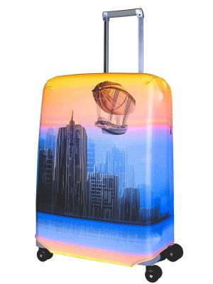Чехол для чемодана  Zeppeline L/XL Coverway. Цвет: оранжевый