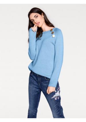 Пуловер RICK CARDONA by Heine. Цвет: голубой, желтый