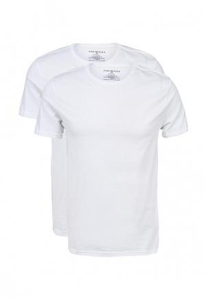 Комплект футболок 2 шт. Five Basics. Цвет: белый