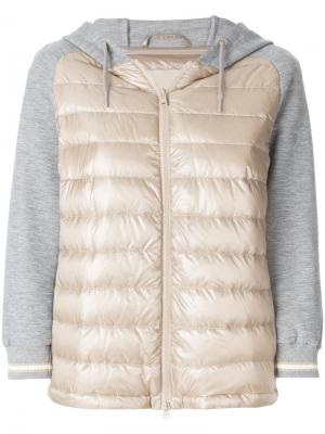 Стеганая куртка-бомбер Herno. Цвет: телесный