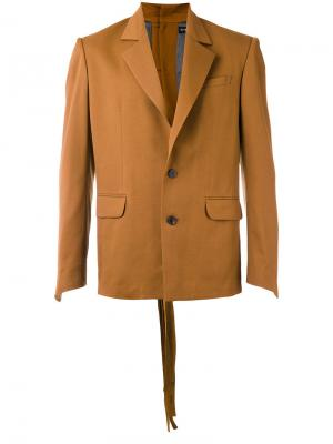 Пиджак с карманами клапанами Y / Project. Цвет: коричневый