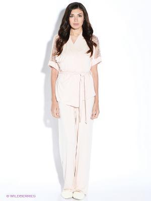 Комплект домашней одежды Marc&Andre. Цвет: светло-бежевый