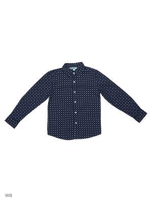 Рубашка Modis. Цвет: темно-синий, белый