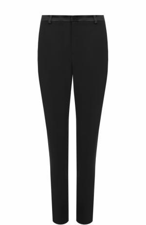 Шерстяные брюки прямого кроя с карманами Lanvin. Цвет: черный