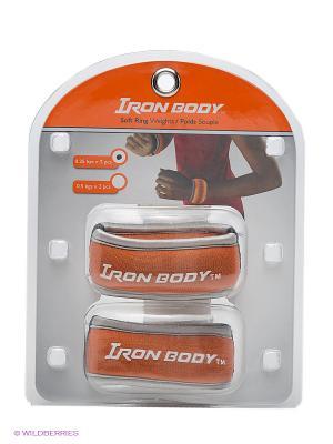 Утяжелители круглые Iron Body. Цвет: рыжий