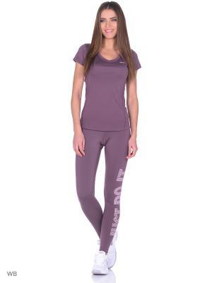 Леггинсы W NP WM TGHT LOGO Nike. Цвет: фиолетовый