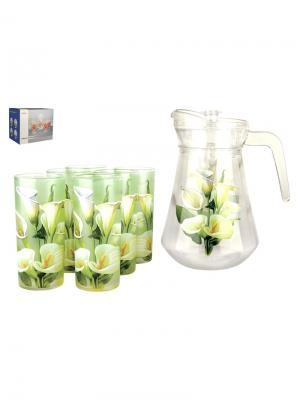 Набор для напитков Калла Коралл. Цвет: зеленый