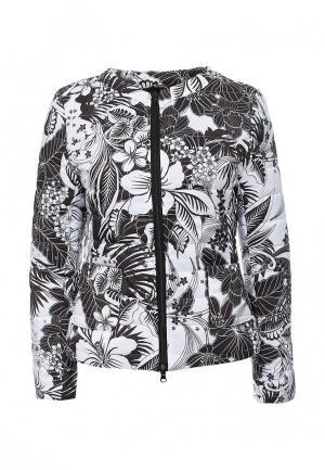 Куртка утепленная Aurora Firenze. Цвет: черно-белый