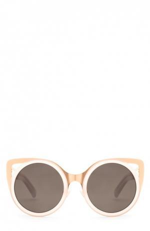 Очки солнцезащитные Erdem. Цвет: золотой