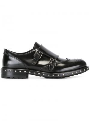 Туфли монки с ремешками Dolce & Gabbana. Цвет: чёрный