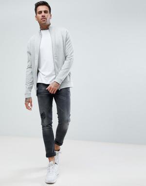ASOS Серая меланжевая спортивная куртка. Цвет: серый