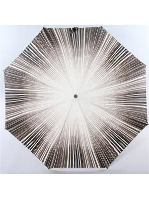 Зонт Zest, 3 слож, ПолнАвто, П-Э Zest. Цвет: черный, белый, серый меланж