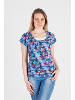 Блуза с секретом кормления Ням-Ням. Цвет: синий, коралловый, серый