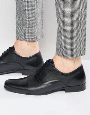 Red Tape Черные кожаные оксфордские туфли. Цвет: черный