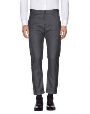 Повседневные брюки OFFICINA 36. Цвет: свинцово-серый