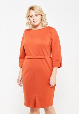 Платье Lina. Цвет: оранжевый