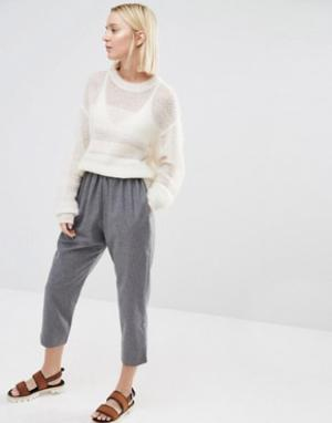 Paisie Укороченные брюки с добавлением шерсти. Цвет: серый