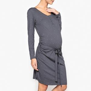 Рубашка ночная для периода беременности La Redoute Collections. Цвет: антрацит