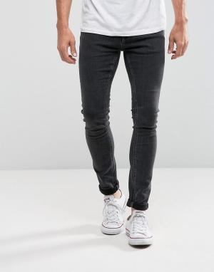 Jack & Jones Эластичные джинсы скинни Intelligence. Цвет: серый