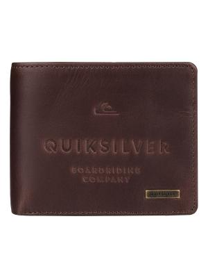 Кошелек Quiksilver. Цвет: коричневый