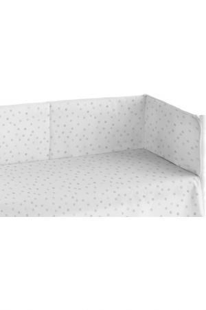 Мягкий бортик для детской кровати. POOCH. Цвет: белый
