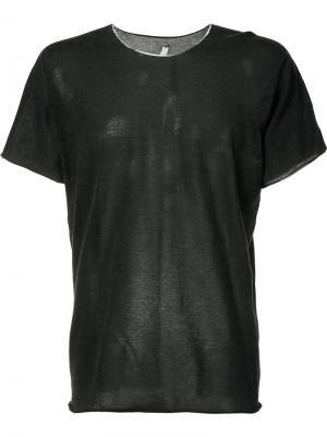 Легкая футболка Label Under Construction. Цвет: чёрный