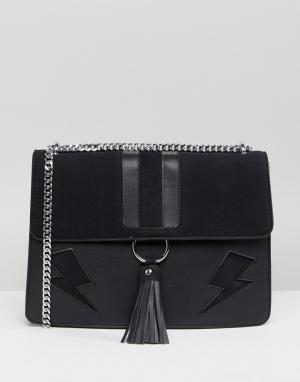 Skinnydip Черная сумка на плечо Lightning Laureli. Цвет: черный