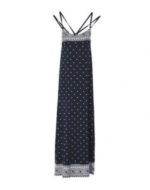 Длинное платье COSABELLA. Цвет: темно-синий