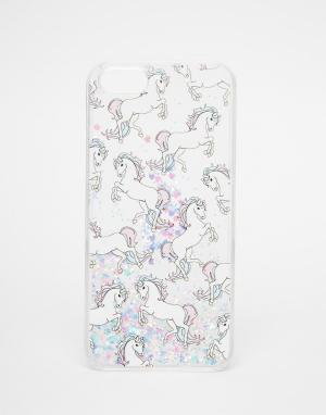 Skinnydip Чехол для iPhone 5 с блестками и единорогами. Цвет: мульти
