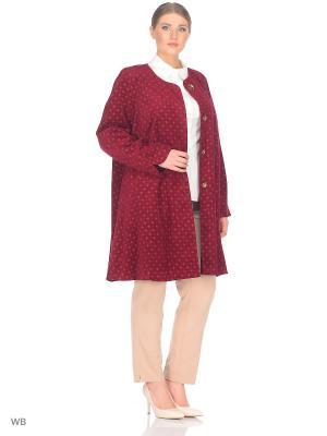 Пальто BERKLINE. Цвет: бордовый