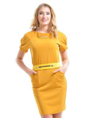 Платье Dea Fiori. Цвет: горчичный, желтый