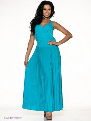 Платье miss money. Цвет: голубой